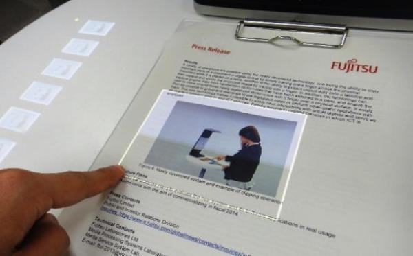 Turning paper into a touchscreen: Fujitsu's FingerLink (Credit: DigInfo News)