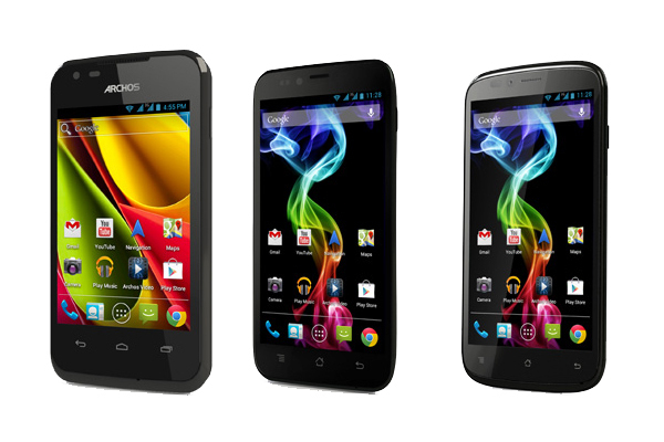 Archos tries its hand at Android smartphones with the new Carbon and Platinum models. (Credit: Archos)