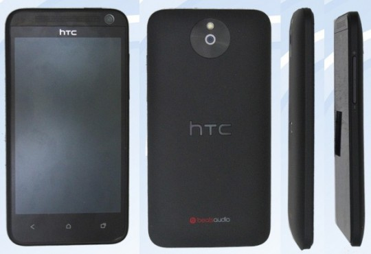 The midrange HTC M4 somewhat resembles the HTC One X. (Credit: Blog of Mobile)