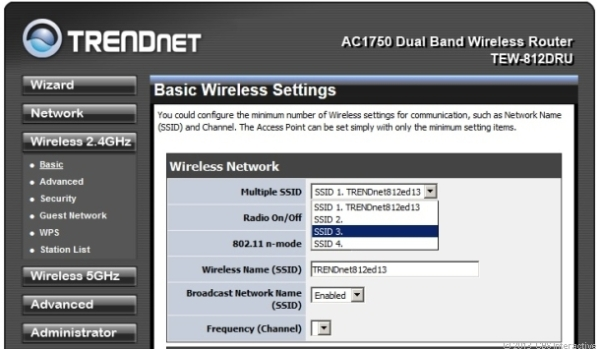 You can create up to 4 main Wi-Fi networks on each of the router's two frequency bands. (Credit: Dong Ngo/CNET)
